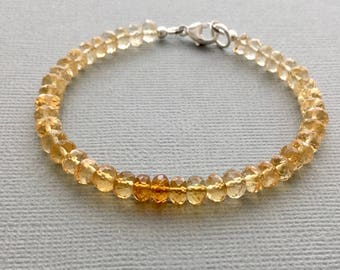 citrine bracelet, november birthstone bracelet
