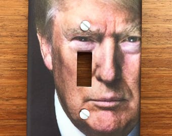 Donald Trump switch plate cover // SAME DAY SHIPPING**