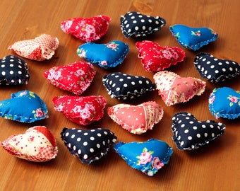 Mini fabric hearts