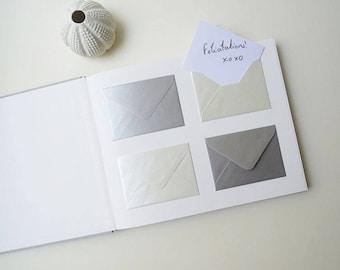 Wedding guest book / / 120 envelopes