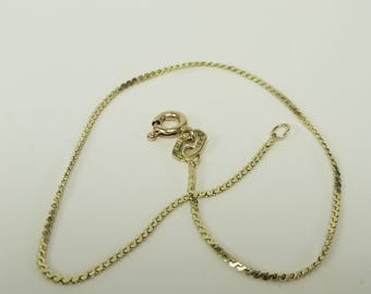 "7"" Estate 14k Yellow Gold Bracelet .80mm Sepentine S Link Anniversary Birthday Sweetheart GS20-1"