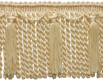 "Chainette Bullion Fringe 6"" Style# Cbf6 Color Cream - A2 (sold by The Yard)"