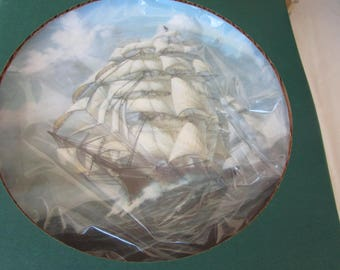 The Great Clipper Ships Collector Plates  LJ Pearce NIB with Certificate and Hanger ARIEL