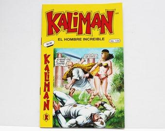 Kaliman El Hombre Increible No 134 El Faraon Sagrado y El Dragon Rojo Revista en Español Comic Book in Spanish RARE