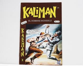 Kaliman El Hombre Increible No 159 El Dragon Rojo Revista en Español Comic Book in Spanish RARE