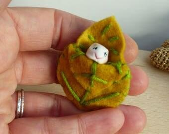broche en crochet marron mon petit hamster Hubert