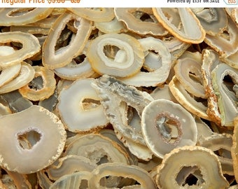 15% off Christmas in July Agate Slice -Occo Geode Agate Slices Highest Special A Quality - Geode Slices - Buy 1, 5, 10, 25, or 50 Wire Wrapp
