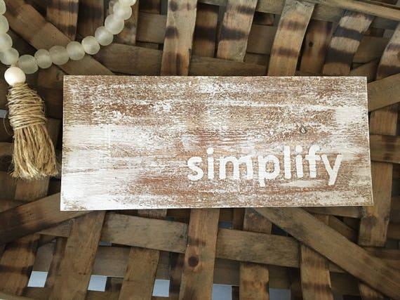 Simplify Reclaimed Wood Sign | white washed reclaimed wood sign