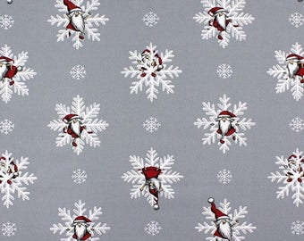 Tablecloth or Table runner Christmas Snowflakes Grey Rectangle  - Table Linens - Scandinavian fabric by Arvidssons Textil Cotton canvas