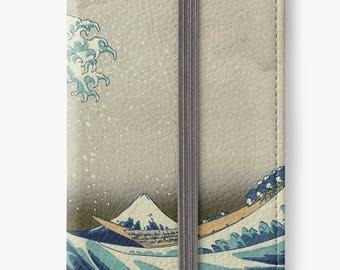 Folio Wallet Case for iPhone 8 Plus, iPhone 8, iPhone 7, iPhone 6 Plus, iPhone SE, iPhone 6, iPhone 5s - The Great Wave off Kanagawa Hokusai