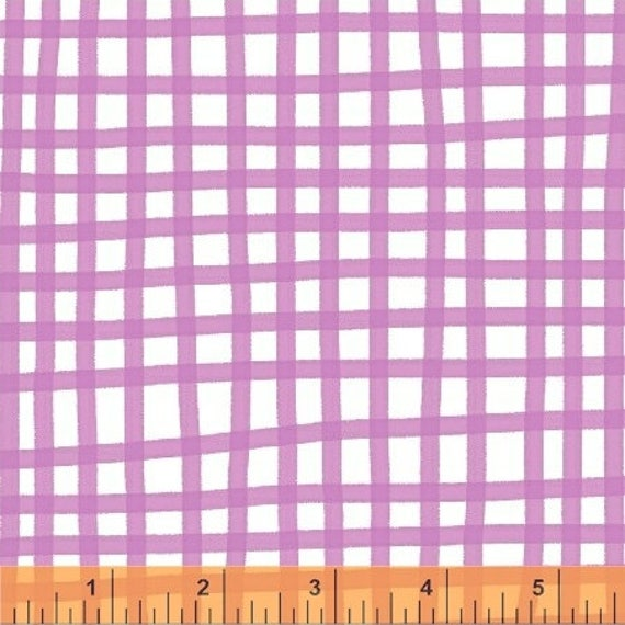 Daisy Chain by Annabel Wrigley for Windham Fabrics - Plaid in Fuchsia