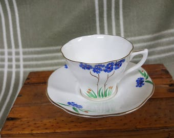 Beautiful Vintage Rosina Bone China Cup & Saucer. Flowers