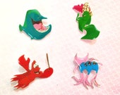 "SALE Under The Sea Collection ""Hot Crustacean Band"" Brooch Pin Little Mermaid Set Mix and Match"