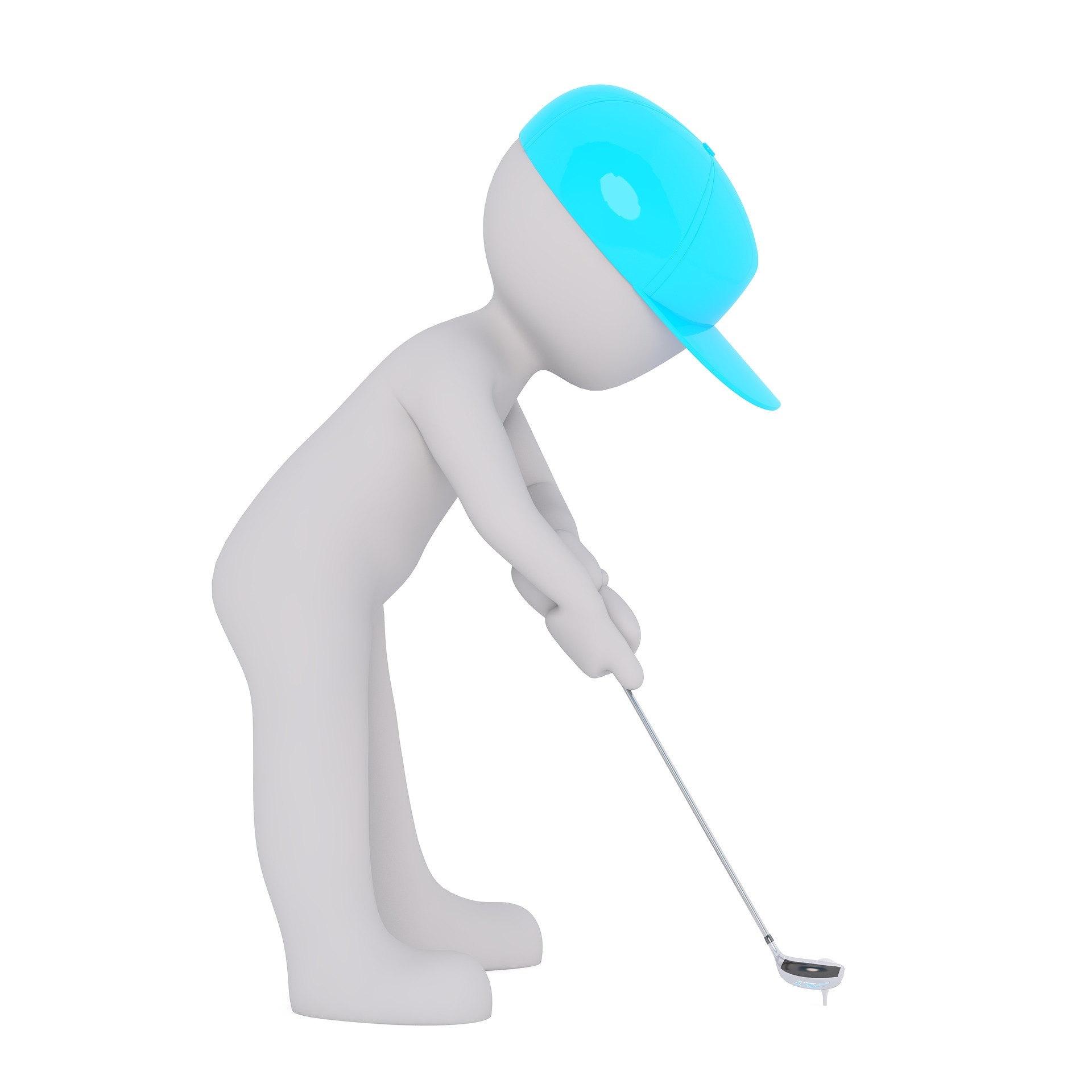 Golfing, driving range, national golf month