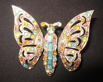 Coro vintage butterfly brooch