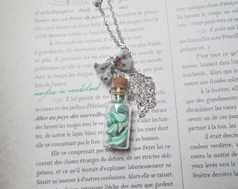 delicious candy Mint humbugs vial necklace