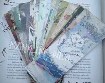 Set of 35 bookmarks (CAT, Unicorn, dragon, Werewolf)