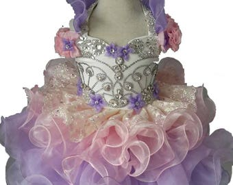 girl pageant dress Y001