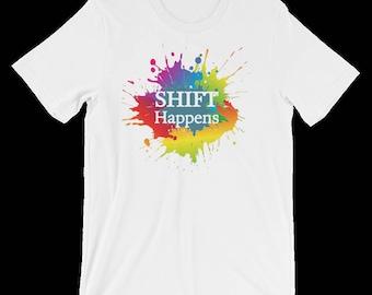 Shift Happens Premium Tee (White)