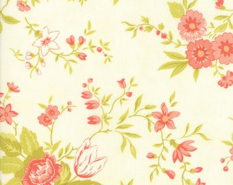 Ella and Ollie 20300-16, Milk, Fig Tree and Co., Moda Fabrics, Floral Fabric, IN STOCK