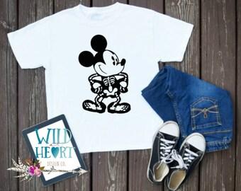 Mickey Mouse Halloween Shirt, Skelleton Mickey Shirt, Disney Halloween Shirt, Skelleton Shirt, Mickey Mouse Shirt, Bones, Skelleton, Mickey