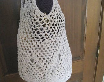 Crochet Market Tote Bag, Crochet tote bag, Off White Beige Bag in a Pineapple Design, perfect for the market or the beach