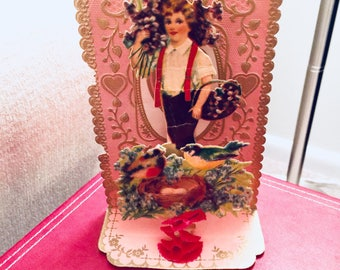 Vintage Pop Up Valentine 3D Valentine Card Antique Valentine