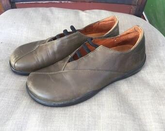 Vintage 90's Footpirnts by Birkenstock Olive Green Black Slip On Shoes  39