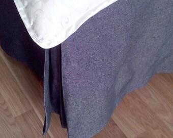 Blue Jean Bedskirt - Denim Jean Dust Ruffle - Jean Bedding - Jean Bedskirt - Jean Bed Valance - Blue Jean Bed Linens - King Size
