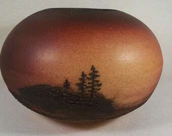 Vase Southwestern Style Handmade Signed    W141