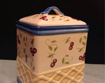 Inspirado Vintage Hand Painted Cookie Jar
