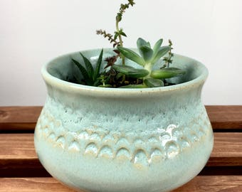 Handmade ceramic planter