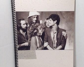 Fleetwood Mac Tusk Album Cover Notebook Handmade Spiral Journal Blank Composition Book