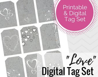 Love Tag Set - Instant Download -- PNG and PDF versions