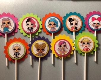 LOL Dolls Cupcake Topper