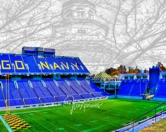 Navy Stadium 5x7  matted on white  mat #1589