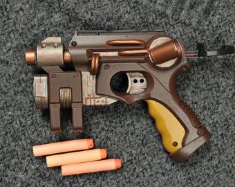 Steampunk/wasteland Nerf Gun. Nitefinder 2 - Unique - Hand made sculpture/show piece/movie prop.