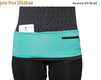SUMMER SALE Turq w/ Black Hip Band/ Fanny Pack/ Waist Pack Turquoise