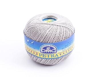 "DMC Petra ""Light Gray"" Crochet Thread  Size 5 100% Cotton 100g 437 yards Fashion and Home Decor Mercerized long-staple cotton"
