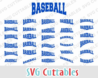 Baseball Layouts,  svg, eps, dxf, set of 30, Digital Cut File for cutting machines