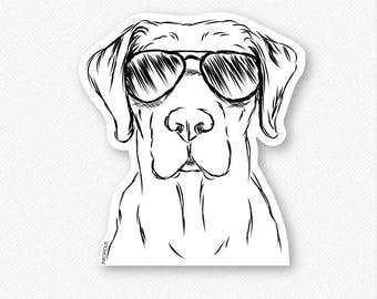 Rowdy the Labrador Decal Sticker