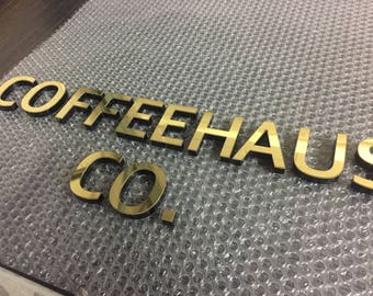 3D Brass Letters and Numbers - Business or Residential