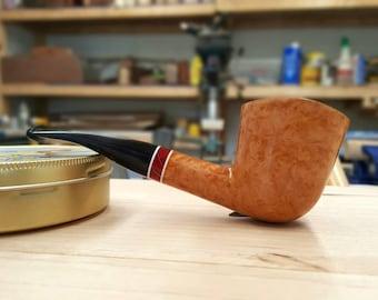 Brown Dublin tobacco pipe, Davis Pipe, Handmade,