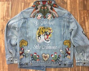 Gucci denim jeans jacket