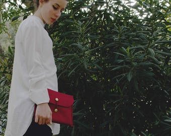 Deep red Felt Laptop Sleeve