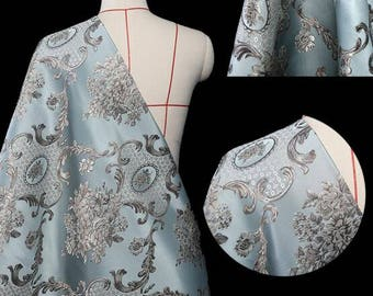 """By 3 yards-Free shipping-Jacquard fabric, brocade fabric, gold patter for wedding dress - (SJH)-57""""(145cm)wide"""
