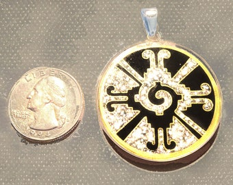 Galactic Butterfly -Hanub Ku- pendant- handmade- Sterling Silver- Black Tourmaline- gemstone- new gift
