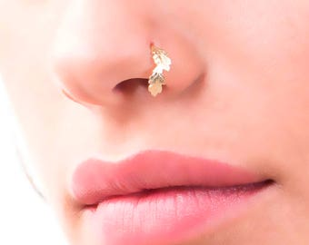 Unique Nose Ring, Nose Ring, Nose Piercing, Nose Stud, Indian Nose Ring, Nose Hoop, Nose Jewelry, Gold Nose Ring, Tribal Nose Ring, Hoop