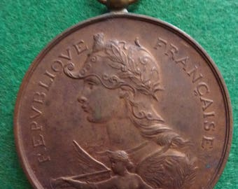 Large 19th Century French Shooting Prize Medal. Fabulous Condition.