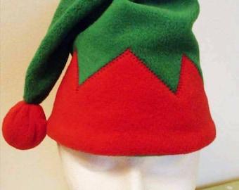 Christmas Elf Hat Santa's Helper Elf Deluxe Hat Fleece Elf Hat